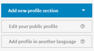 Add New Profile Section