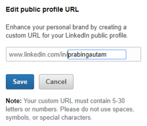 • Click on the edit symbol and from there you can customise your public LinkedIn profile URL, the way you want.